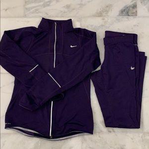 Nike Dry Fit Women's Running Jacket & Legging SZ S